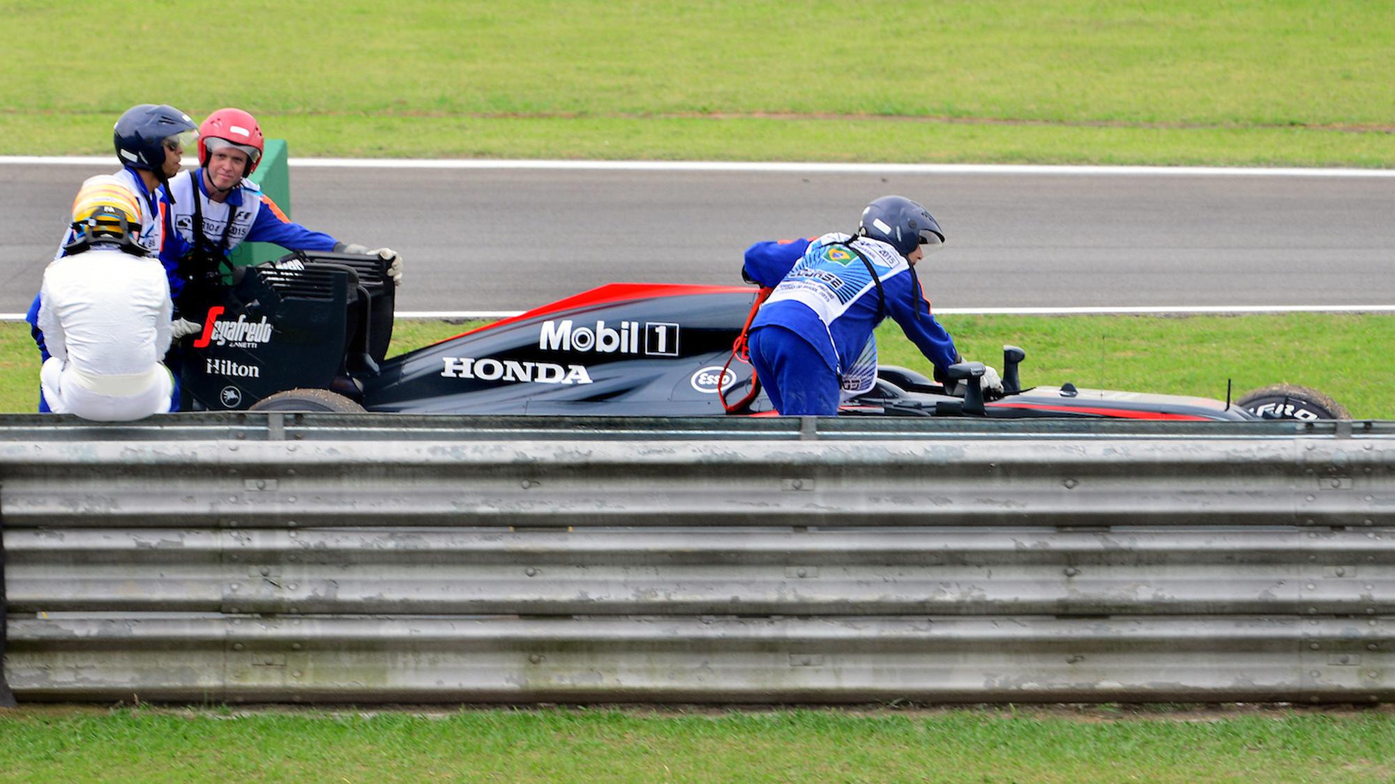 Alonso Mclaren breakdown