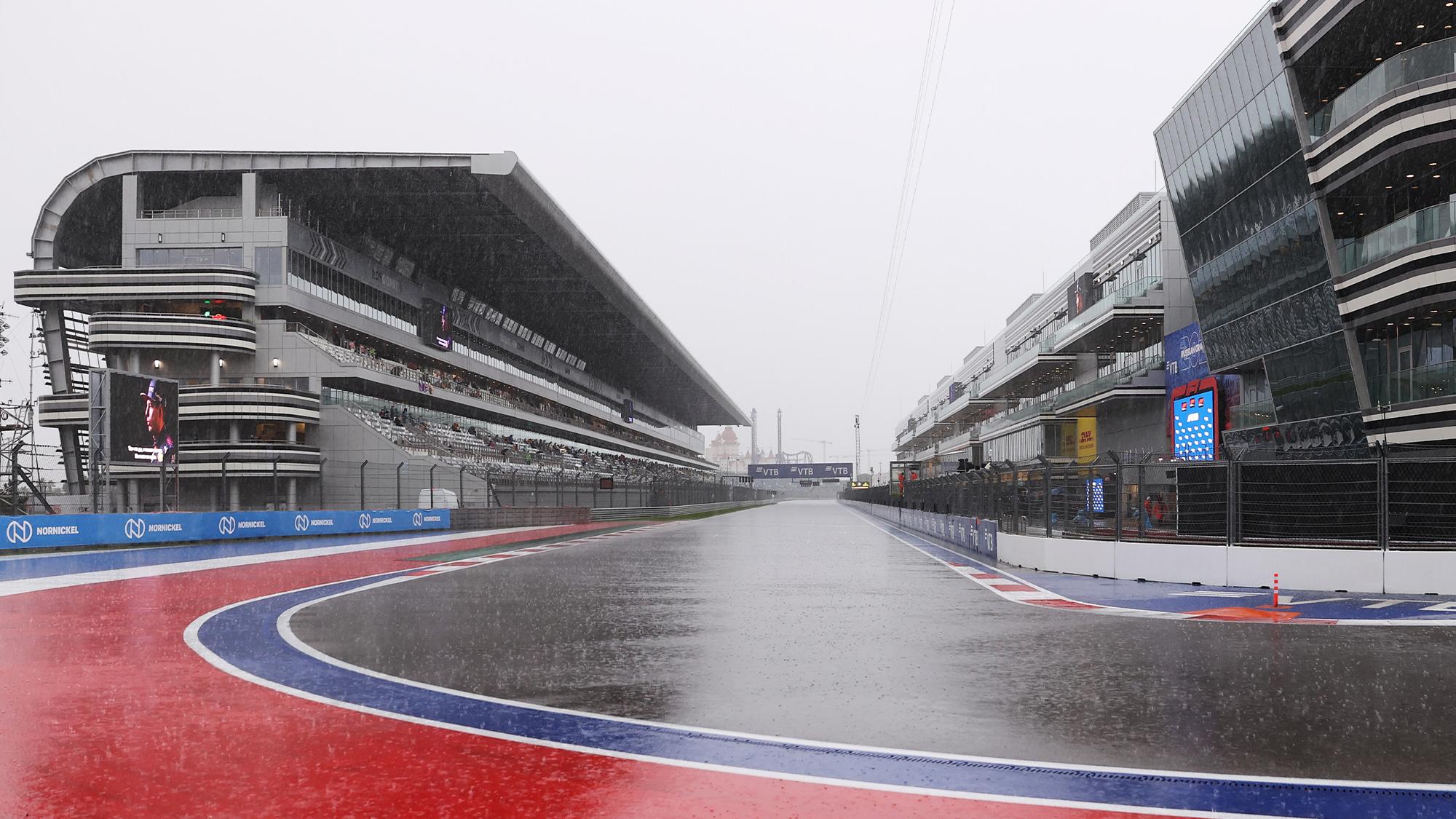 Sochi rain at 2021 Russian Grand Prix