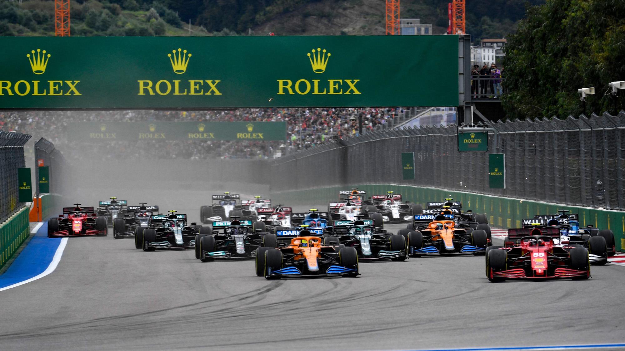 Start of 2021 Russian GP