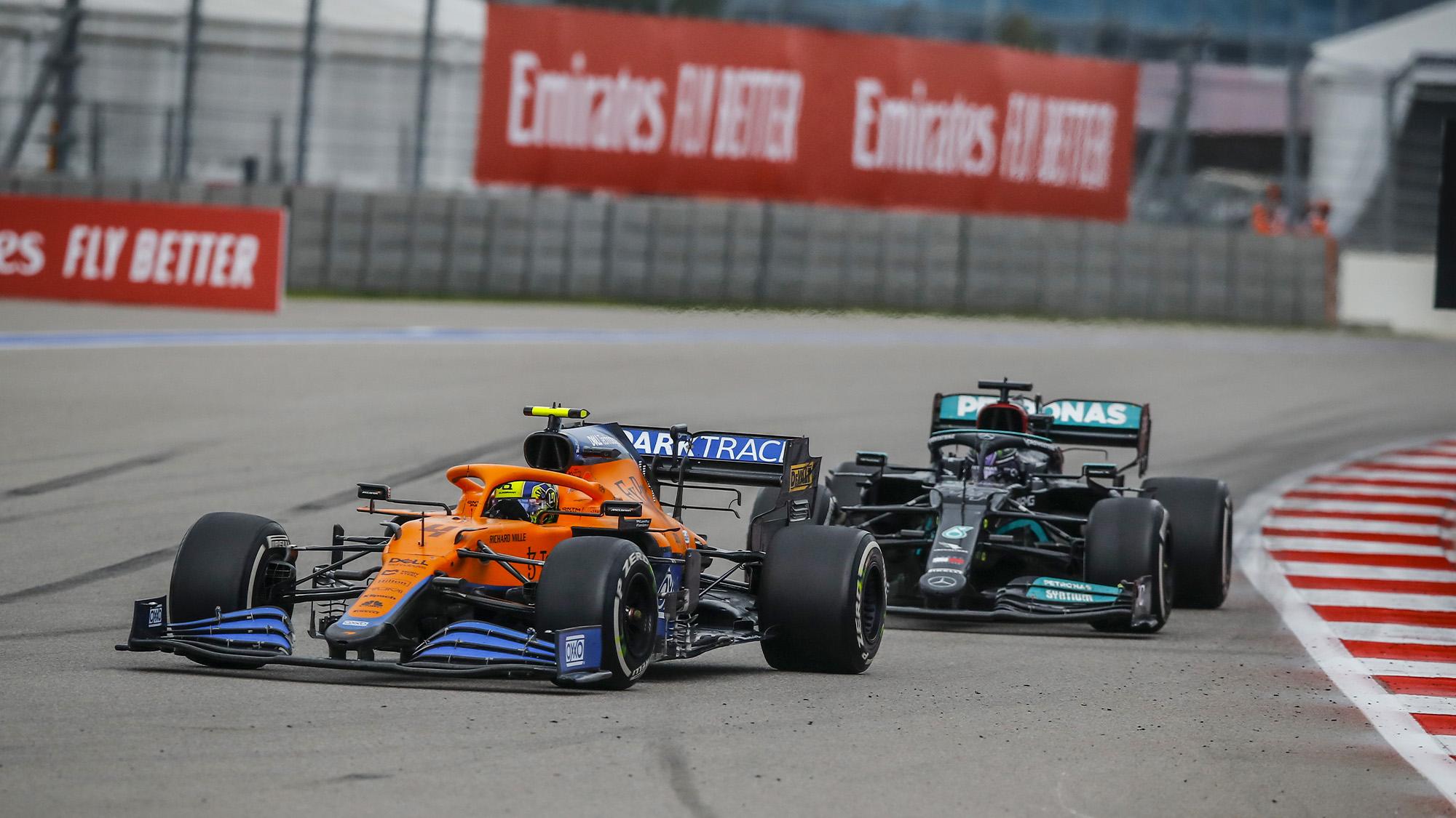 Hamilton follows Norris in Russian GP 2021