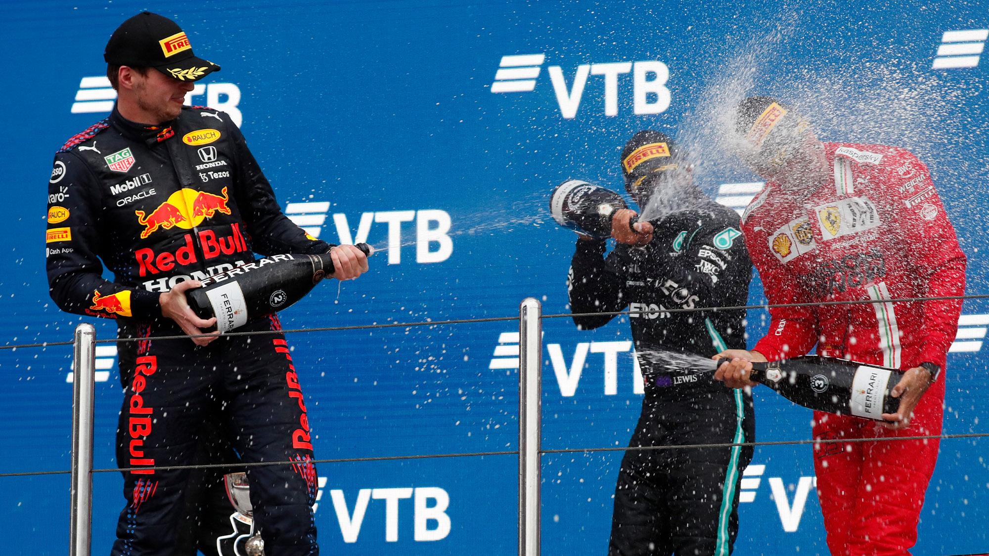 2021 Russian GP podium