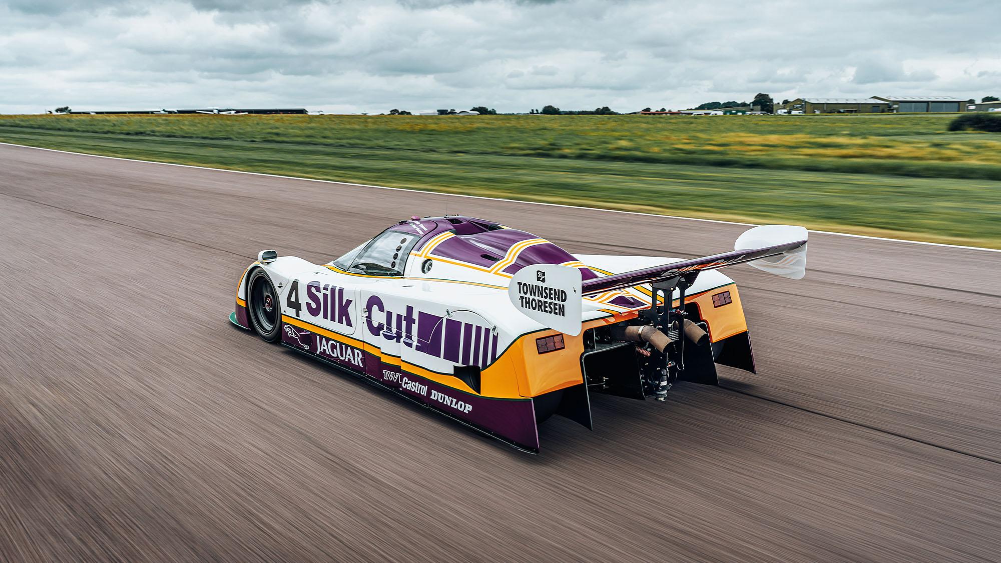 Jaguar XJR-8 on track at Thruxton