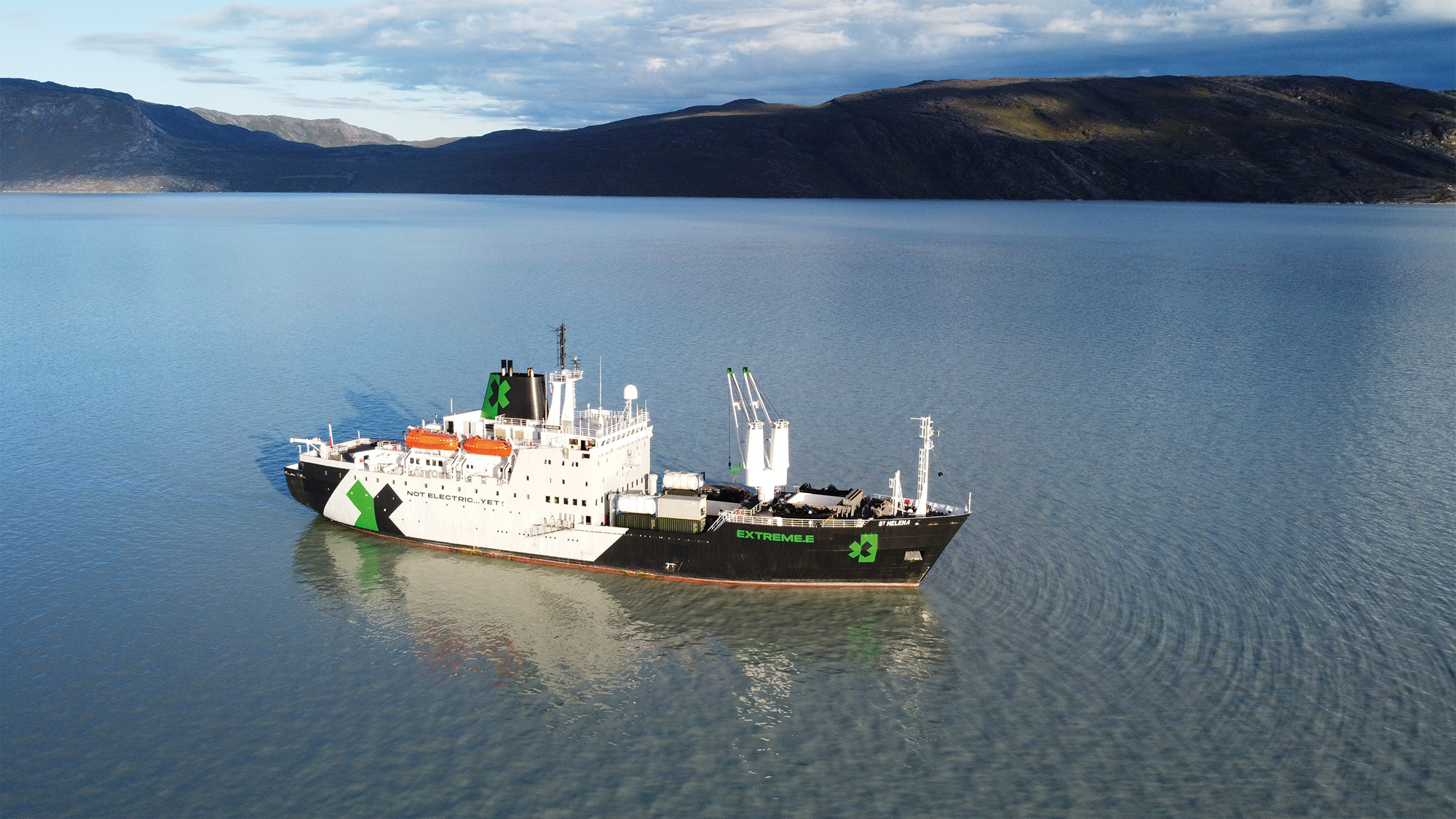 Extreme E ship St Helena in Greenland