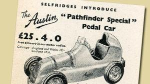 Austin Pathfinder pedal car advertisement