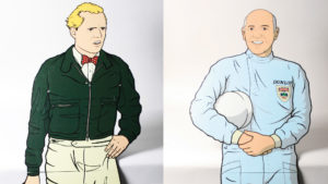 Mike Hawthorn Stirling Moss cutouts