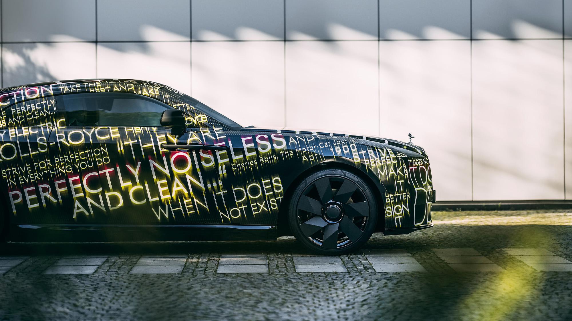 Rolls Royce SPectre teaser side