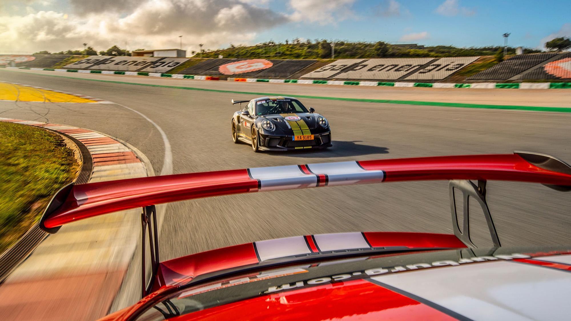 View of Porsche 911