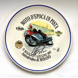 Product image for Giacomo Agostini, Misano Moto D-Epoca In Pista, pizza plate