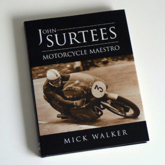 Product image for John Surtees signed Motorcycle Maestro by Mick Walker