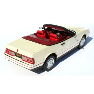 Product image for 1/24 1987-1992 CADILLAC ALLANTE PEARLESCENT WHITE WITH 2-REMOVABLE TOPS