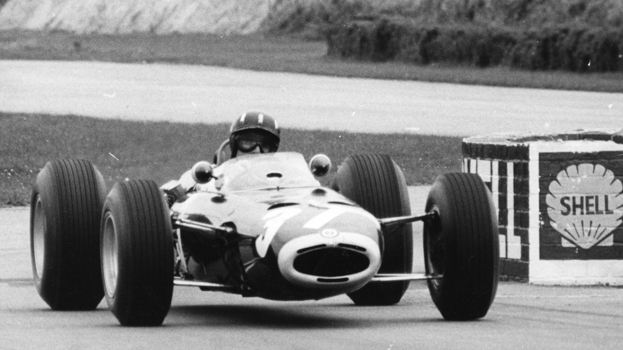 Graham Hill at Goodwood chicane
