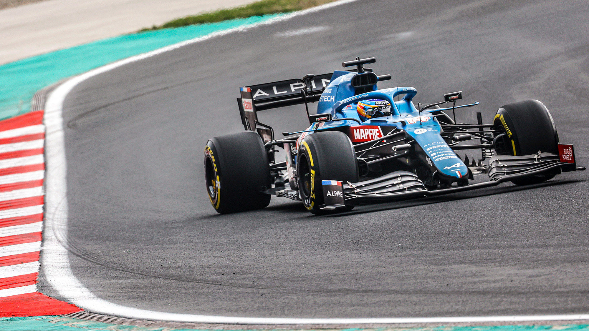 Fernando Alonso qualifying for the 2021 Turkish Grand Prix