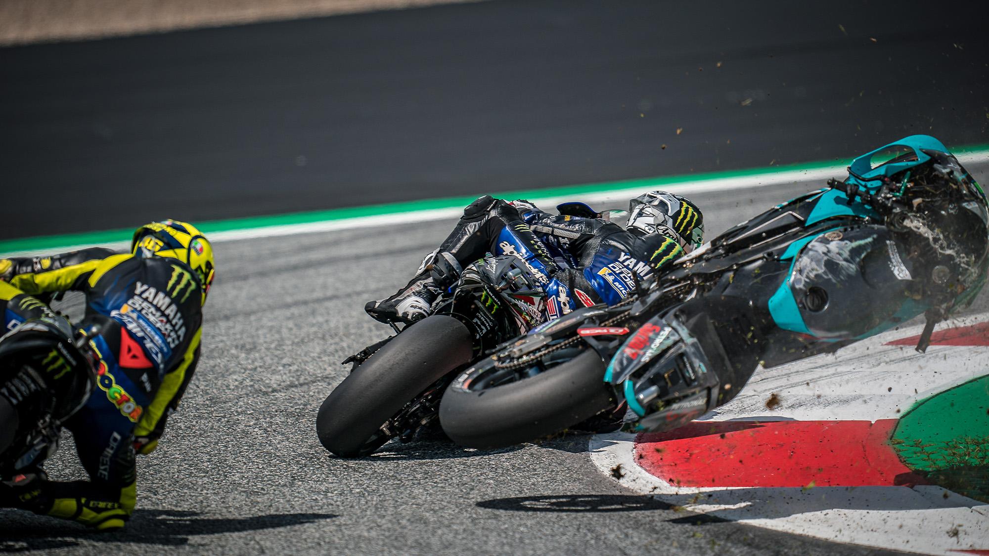 Franco Morbidelli crash at red Bull Ring in 2020