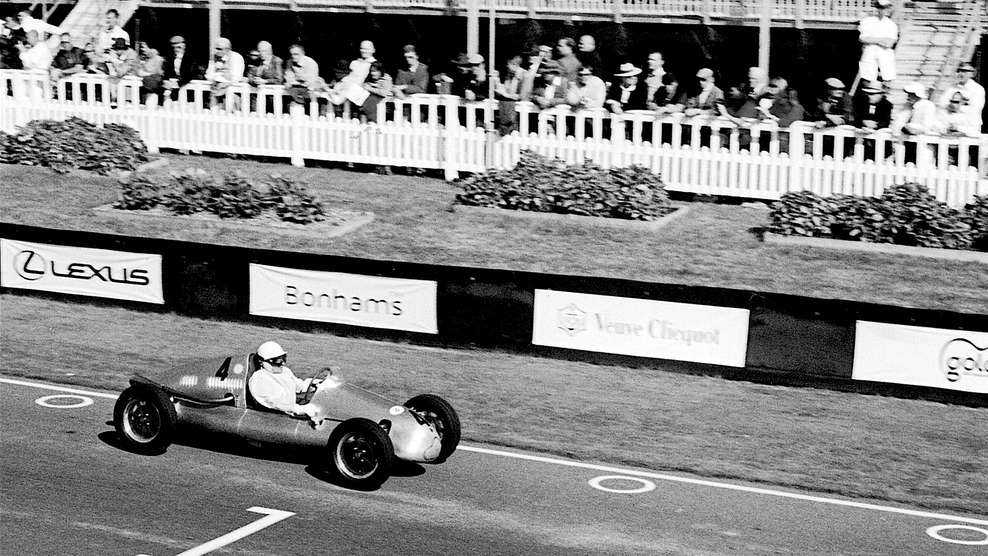 Stirling Moss in 500cc race at Goodwood revival