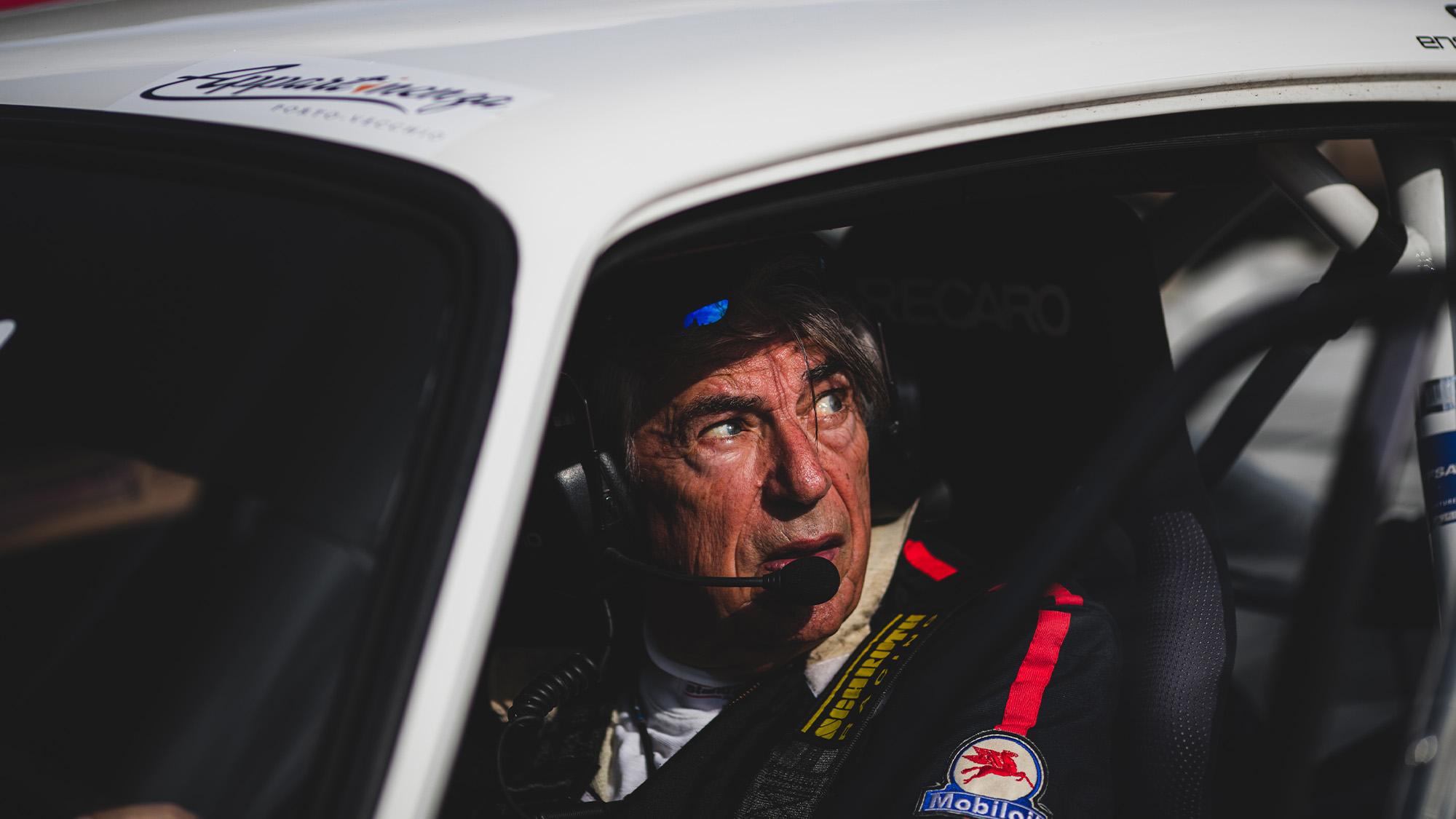 Bernard Beguin in car during Tour de Corse Historique