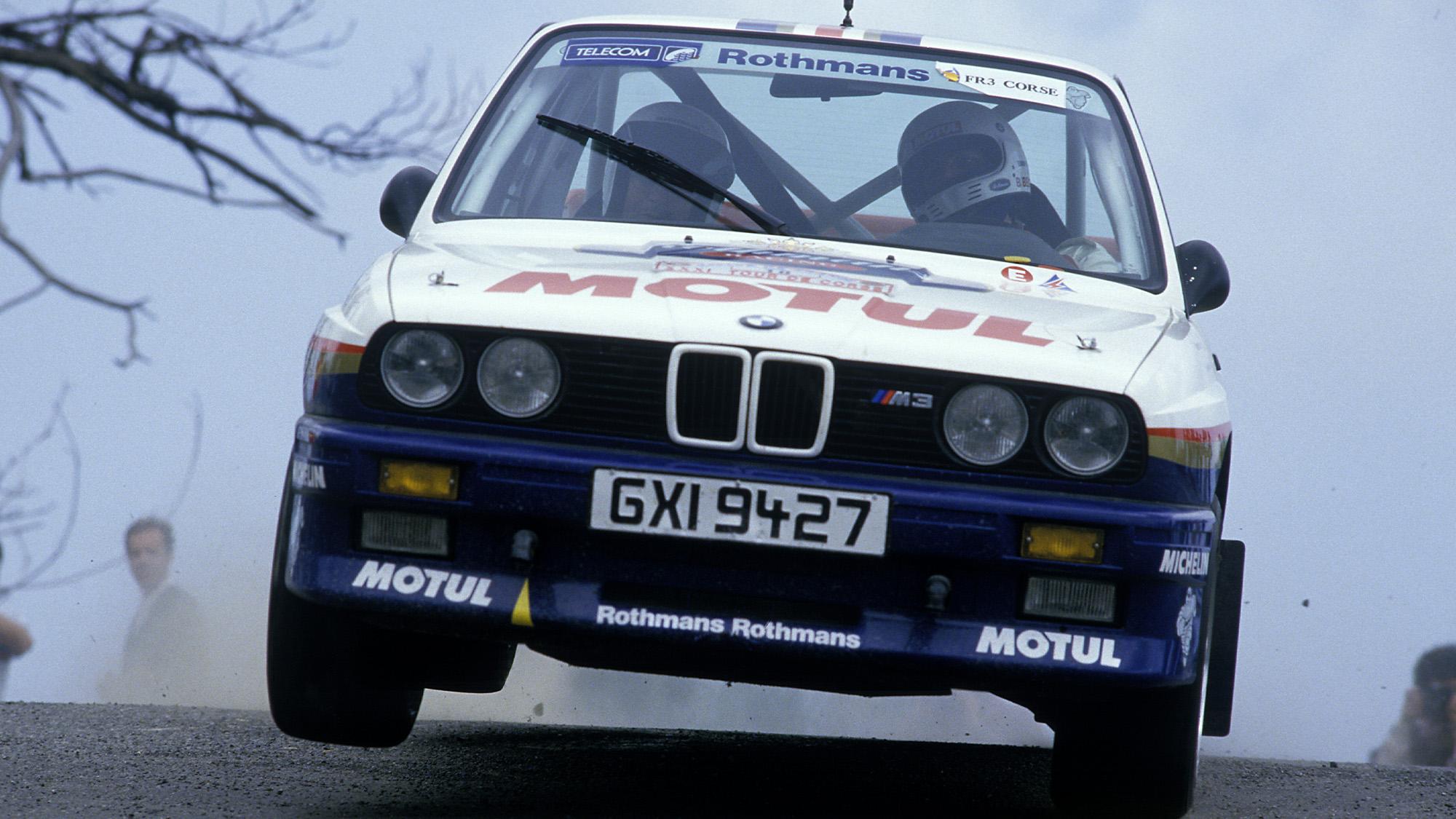 BMW M3 of Bernard beguin in the 1987 Tour de Corse