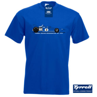Product image for Official Tyrrell 001 Classic Racing Car T-Shirt