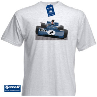 Product image for Tyrrell 003 Monaco GP 1972 ( F.Cevert ) T-Shirt