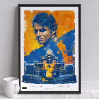 Product image for Lando Norris F1 Artwork, McLaren Formula 1 Wall Art – Limited edition of 250