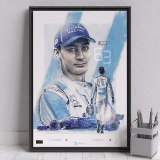 Product image for George Russell F1 Poster Williams Racing F1 Wall Art – Limited edition of 250