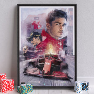 Product image for Charles Leclerc, Scuderia Ferrari F1 Wall Art – Limited edition of 250