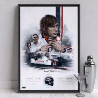 Product image for James Hunt, Hesketh Racing Formula 1 Wall Art - Limited edition of 100