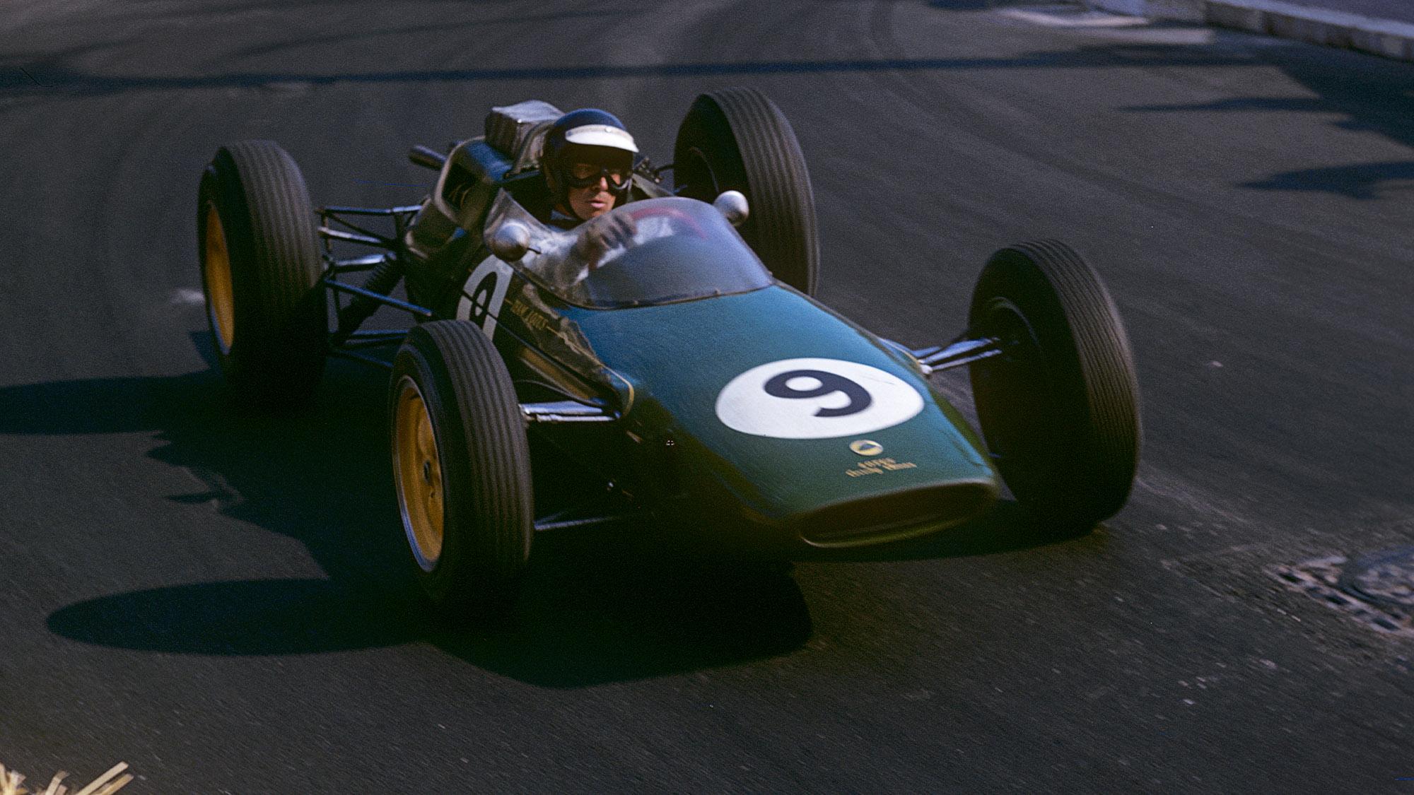 Jim Clark at the 1963 Monaco Grand Prix