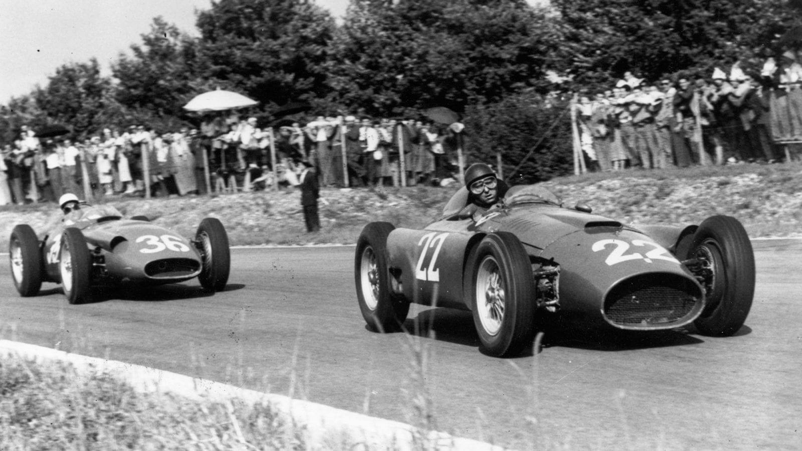 1956 Italian Grand Prix Fangio Moss
